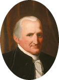 Close-up of Telfair portrait of Dr James Lynah